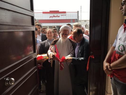 افتتاح انبار امدادی و ساختمان اداری امدادی جمعیت هلال احمر بابل