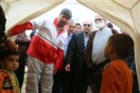 تصاویر بازدید نماینده ولی فقیه در جمعیت هلال احمر از مناطق زلزله زده خراسان شمالی