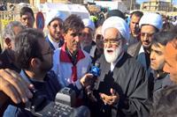 تصاویر بازدید نماینده ویژه مقام معظم رهبری از مناطق زلزله زده