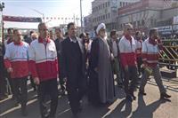 گزارش تصویری حضور نماینده ولی فقیه در هلال احمر در راهپیمایی 22 بهمن