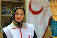 فیلم : گفتگو با بازیگر زن سریال پایتخت که عضو هلال احمر شد