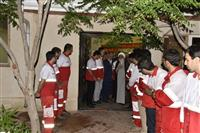 حضور نماینده ولی فقیه در هلال احمر در پایگاه امداد و نجات گرمسار