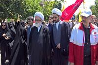 حضور نماینده ولی فقیه در جمعیت هلال احمر در راهپیمایی روز قدس