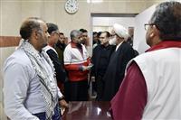 بازدید نماینده ولی فقیه در هلال احمر از درمانگاه نباء در نجف اشرف