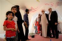 حضور نماینده رهبر معظم انقلاب در جمع مردم  روستای سیل زده بنده  خوزستان