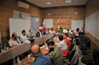 حضور نماینده مقام معظم رهبری در مرکز فرماندهی عملیات هلال احمر لرستان