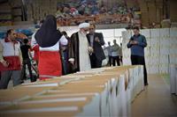 بازدید نماینده ولی فقیه در  هلالاحمر از انبارهای کمک های مردمی در خوزستان