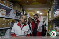 بازدید دبیر کل هلال احمر از درمانگاه نباء در عراق و روند خدمت رسانی به زائرین اربعین حسینی