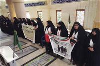 ادای احترام به مقام شهداء از سوی هلال احمر استان بوشهر