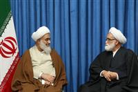 دیدار حجت الاسلام والمسلمین معزی با نماینده ولی فقیه در استان قزوین
