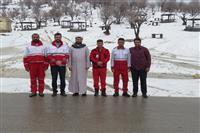 بازدید مسئول دفتر نمایندگی ولی فقیه در هلال احمر خوزستان از روند امدادسانی