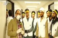 حضور طلاب جهادی پیامبر(ص)، حوزه علمیه حضرت عبدالعظیم(ع) در بیمارستان فیروزآبادی شهر ری