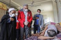 بازدید از محل اسکان اضطراری خانوارهای حادثه رانش زمین در استان گلستان