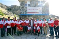 بازدید رئیس جمعیت هلالاحمر از پایگاههای امداد کوهستان کلکچال، دربند و  خانه هلال «کند علیا»