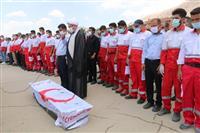مراسم تشییع پیکر امدادگر سید محمدمهدی حسینی
