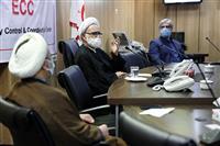 ارتباط تصویری نماینده ولی فقیه در هلال احمر با مسئولان دفاتر نمایندگی در استان ها