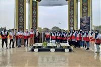 برنامه غبار روبی گلزار شهدا برگزار شد
