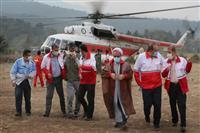 از روند امدادرسانی در حادثه آتش سوزی جنگل های توسکستان بازدید شد